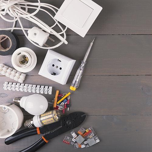 części i narzędzia elektryka