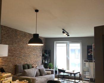 zamontowane oświetlenie w krakowskim mieszkaniu